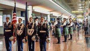 Last Frontier Honor Flight Vetern's Return
